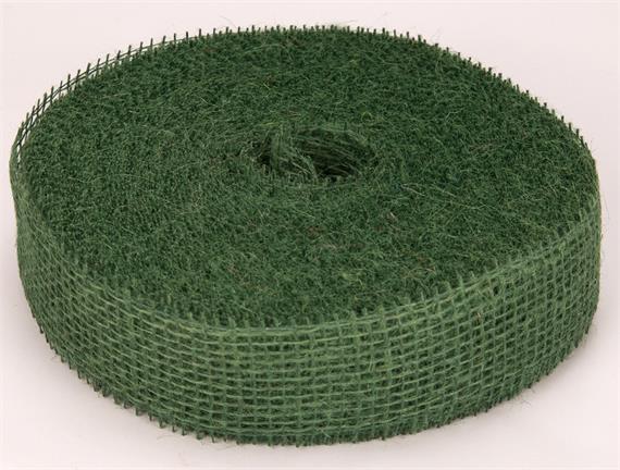 Nastro juta deco a rete colore verde pino - Nastri decorativi natalizi ...
