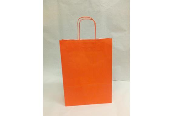 Shopper carta kraft manico ritorto colore Arancio