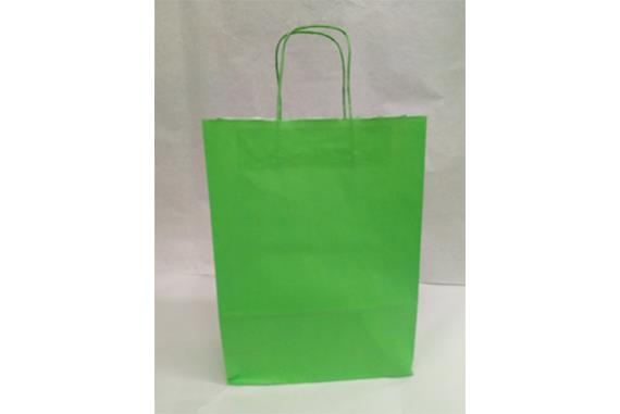 Shopper carta kraft manico ritorto colore Verde mela