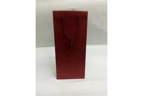 Shopper porta bottiglia carta Sealing maniglia cordino Bordeaux